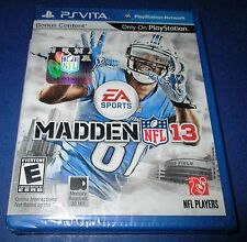 Madden NFL 13 Sony PlayStation Vita *Factory Sealed! *Free Shipping!