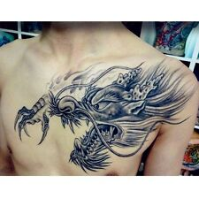 New Temporary Tattoo Large 3D Dragon Head Waterproof Removable Arm Body Sticker