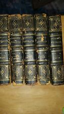 EXTREMELY OLD SET OF MINIATURE BOOKS , VOLUMES 2-6 ELEGANT EXTRACTS FROM THE