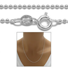925 Sterling Silver Lovely Bead Chain Necklace 1.5mm (150 Gauge)