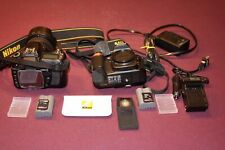 New Listing Two Nikon D80 10.2Mp Digital Slr Cameras with One Black Nikon lens 18-70