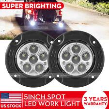 2X Round Flush Mount LED Lights 18W LED Spot Work Fog Light Off Road Driving 12V
