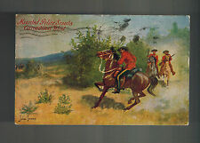 1911 Toronto Canada Postcard Cover Salem Fall RCMP Mounted Police Scouts in West