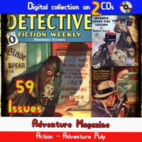 Detective Fiction Weekly Magazine, 59 crime, mystery, detective murder pulps