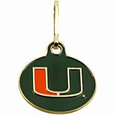 NEW! Miami Hurricanes U Can Zip It Gym Bag, Luggage,Jacket, Purse Zipper Pull