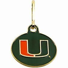 NEW! Miami Hurricanes U Can Zip It Gym Bag, Luggage,Jacket, Purse Zipper Pull