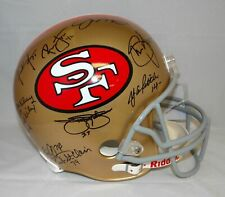 San Francisco 49ers Greats Autographed Full Size Helmet- JSA Authenticated