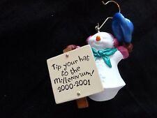 Hallmark Ornaments  - MILLENIUM SNOWMA'AM - 2000-2001 - Orig. box