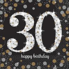 30. Geburtstag Party Servietten Amscan Motivservietten Tisch Deko Dekoration