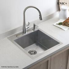 "Combo Set Grid / Dispenser 19"" TopMount Zero Radius Kitchen Laundry Sink KTS1921"