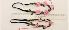 Pretty Bride Flower Headband Festival Wedding Floral Garland Hair Band Headwear
