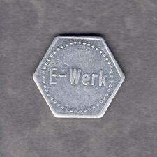 Erlangen -E-Werk- Glas-Pfand, Marke aus Aluminium (Menzel 8520.3)
