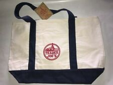 3 NEW Trader Joe's Reusable Canvas Eco Tote Bag (Heavy Duty Grocery Bag)