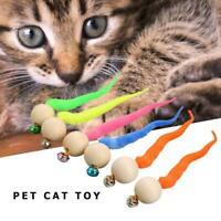 2020 Neueste WigglyPing Cat Toy-Simulation WurmSpielzeug mit Glocke für Haustier