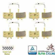 Bicycle Disc Brake Pads for AVID BB7 Juicy 3 5 7 Ultimate, 4 Pairs Gold