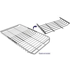 "Stingray Low-Profile 21"" Roof Cargo Basket Rack with Length Extension"