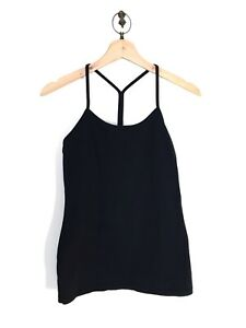 Lululemon Power Pose Tank Light Support For A/B Cup Heathered Black Top Size 4