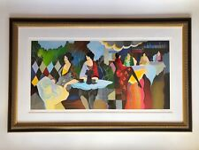 """ITZCHAK TARKAY """"AFTERNOON LUNCHEON"""" ARTIST SIGNED AND NUMBERED SERIGRAPH FRAMED"""