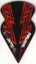 Red Bolts Slim Tomahawk Dart Flights: 3 per set