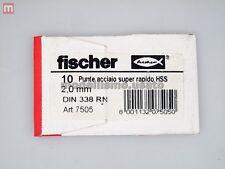 Fisher 7505 10 Punte Acciaio Super Rapido HSS 2,0mm DIN 338 RN modellismo