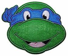 """Teenage Mutant Ninja Turtles Leonardo Blue Mask Head Shot Large 5"""" Tall Patch"""