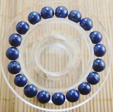 c087a70e0e9e Hermoso 10mm Natural Azul Lapislázuli redonda con cuentas Gemas Brazalete  Elástico 7.5