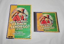 Where in the World is Carmen Sandiego? CD-ROM & Crime Stopper's Guide Broderbund