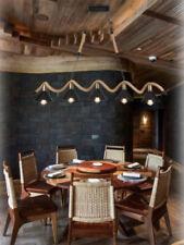 Lampadario da soffitto corda in canapa vintage rustico lampada 5 attacchi E27