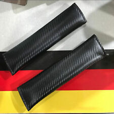 2x Carbon Fiber Car Truck Seat Belt Cushions Shoulder Cover Pads Luxury Kit USA