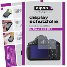 6x Canon EOS 600D Protector de Pantalla protectores transparente