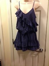 Banana Republic Silk Size Small Ruffle Dress