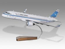 Airbus A320 Kuwait Airways Solid Mahogany Wood Handmade Desktop Airplane Model