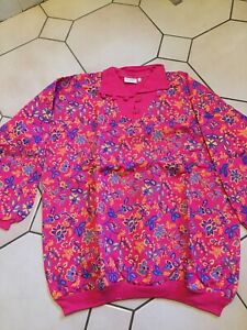 Vintage But New With Tags Sweatshirt Style Top Size 164/170 Cerise Pattern