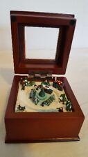 Miniature Music Box - Sleigh Scene plays Jingle Bells (Free shipping)