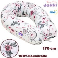 Schwangerschaftskissen Stillkissen Lagerungskissen XL 170cm Rosa Blume BAUMWOLLE