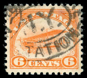 momen: US Stamps #C1 Used XF-SUP PF Cert