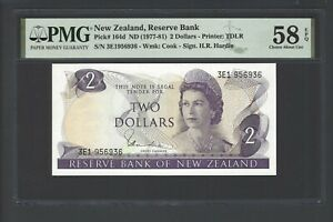 New Zealand 2 Dollars (1977-81) P164d About Uncirculated
