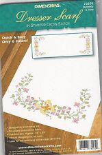 Butterfly & Vine Dresser Scarf Embroidery Kit by Dimensions