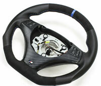 Échange Aplati Alcantara Volant en Cuir BMW M-POWER E90 E91 E81 E82 Neuf Cuir