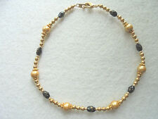 Beads Anklet Magnetic Gold Hematite Ankle Bracelet Gold Plated Beads Magnetic