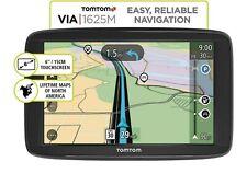 "TomTom VIA 1625M 6"" Touchscreen GPS Navigation Device w/ Lifetime Maps (SEALED)"