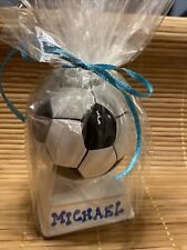 Mini Piggy Bank Coin Soccer Ball Porcelain Personalized Michael Wrapped As List