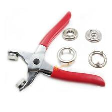 "Easy Press Snap Fastener Pliers stud attaching tool 3/8"" 25 sets Nickel Sew T06"
