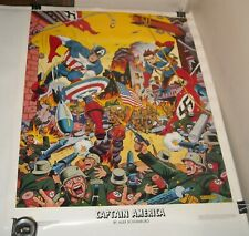 ROLLED 1984 CAPTAIN AMERICA by ALEX SCHOMBURG MARVEL TIMELY COMICS ART POSTER