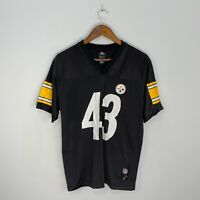 Pittsburgh Steelers Youth Black Troy Polamalu #43 NFL Jersey Sz L (14-16)