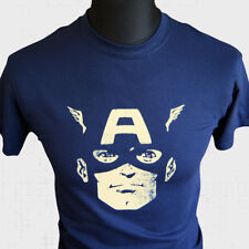 CAPTAIN America Visage super héros nouveau T Shirt Marvel Bande Dessinée Vintage Avengers