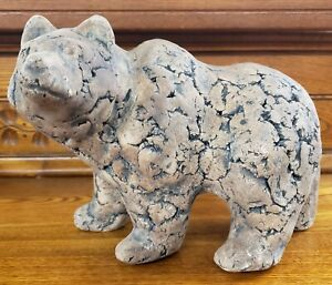 1970's Shapes of Clay Grizzly Bear Sculpture by Stan Langtwait (American)