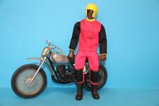 Vintage Big Jim doll figure BIG JACK in Motorcross outfit + Motorbike Cross bike