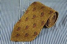 Joseph Abboud Tie Men's Turkish Gold Bronze & Black  Printed Silk Necktie