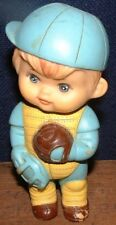 Vintage 1971 Iwai Industrial Co. Squeaky Toy Boy Baseball Player Catcher